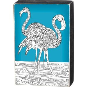 NWT Primitives by Kathy Flamingos Color Sign Gift